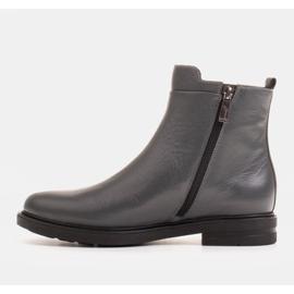 Marco Shoes Kevyet saappaat eristetty tasaisella pohjalla luonnon nahasta harmaa 2
