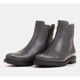 Marco Shoes Kevyet saappaat eristetty tasaisella pohjalla luonnon nahasta harmaa 3