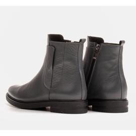 Marco Shoes Kevyet saappaat eristetty tasaisella pohjalla luonnon nahasta harmaa 4