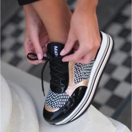 Marco Shoes Kevyet lenkkarit paksulla pohjalla luonnon nahasta musta 1