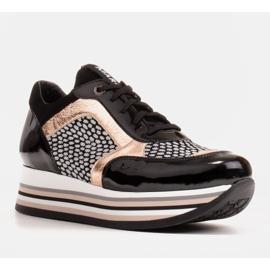 Marco Shoes Kevyet lenkkarit paksulla pohjalla luonnon nahasta musta 2