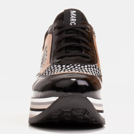 Marco Shoes Kevyet lenkkarit paksulla pohjalla luonnon nahasta musta 4