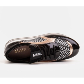 Marco Shoes Kevyet lenkkarit paksulla pohjalla luonnon nahasta musta 7