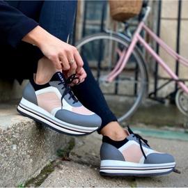 Marco Shoes Kevyet lenkkarit paksulla pohjalla luonnon nahasta harmaa 8
