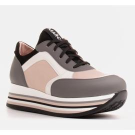 Marco Shoes Kevyet lenkkarit paksulla pohjalla luonnon nahasta harmaa 1