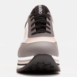 Marco Shoes Kevyet lenkkarit paksulla pohjalla luonnon nahasta harmaa 2