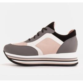 Marco Shoes Kevyet lenkkarit paksulla pohjalla luonnon nahasta harmaa 3