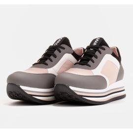 Marco Shoes Kevyet lenkkarit paksulla pohjalla luonnon nahasta harmaa 4