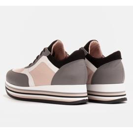 Marco Shoes Kevyet lenkkarit paksulla pohjalla luonnon nahasta harmaa 5