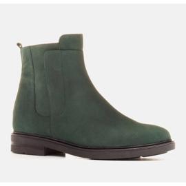 Marco Shoes Kevyet saappaat eristetty tasaisella pohjalla luonnon nahasta vihreä 1