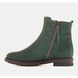 Marco Shoes Kevyet saappaat eristetty tasaisella pohjalla luonnon nahasta vihreä 2
