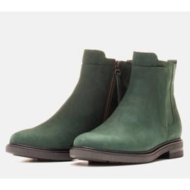 Marco Shoes Kevyet saappaat eristetty tasaisella pohjalla luonnon nahasta vihreä 3