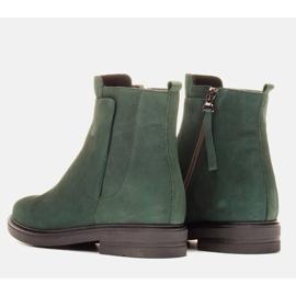 Marco Shoes Kevyet saappaat eristetty tasaisella pohjalla luonnon nahasta vihreä 4
