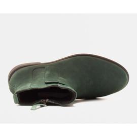 Marco Shoes Kevyet saappaat eristetty tasaisella pohjalla luonnon nahasta vihreä 5