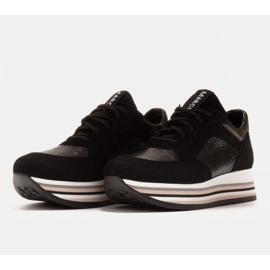 Marco Shoes Kevyet lenkkarit paksulla pohjalla luonnon nahasta musta 3