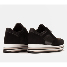Marco Shoes Kevyet lenkkarit paksulla pohjalla luonnon nahasta musta 6