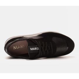 Marco Shoes Kevyet lenkkarit paksulla pohjalla luonnon nahasta musta 5
