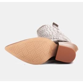 Marco Shoes Naisten cowboy-saappaat, krokokuvioiset musta 6