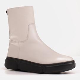 Marco Shoes Urheilulliset valkoiset nilkkurit pehmeästä luonnollisesta nahasta valkoinen 2