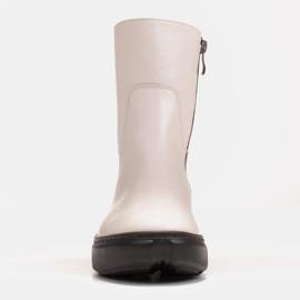 Marco Shoes Urheilulliset valkoiset nilkkurit pehmeästä luonnollisesta nahasta valkoinen 3