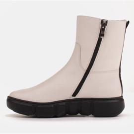 Marco Shoes Urheilulliset valkoiset nilkkurit pehmeästä luonnollisesta nahasta valkoinen 4