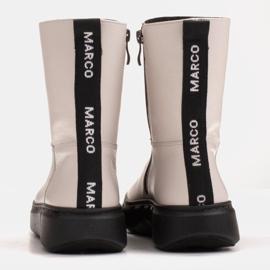 Marco Shoes Urheilulliset valkoiset nilkkurit pehmeästä luonnollisesta nahasta valkoinen 5
