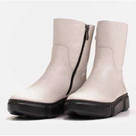 Marco Shoes Urheilulliset valkoiset nilkkurit pehmeästä luonnollisesta nahasta valkoinen 6