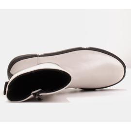 Marco Shoes Urheilulliset valkoiset nilkkurit pehmeästä luonnollisesta nahasta valkoinen 7