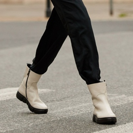 Marco Shoes Urheilulliset valkoiset nilkkurit pehmeästä luonnollisesta nahasta valkoinen 1