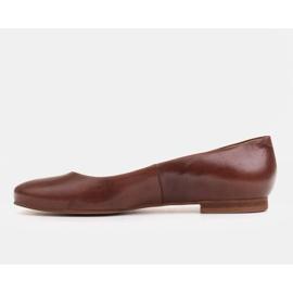 Marco Shoes Ballerinat ruskeasta nahasta, käsin kiillotetut 2