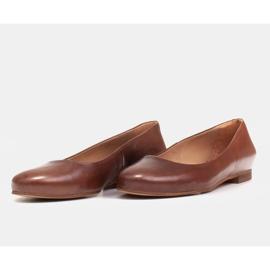 Marco Shoes Ballerinat ruskeasta nahasta, käsin kiillotetut 6
