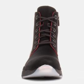 Marco Shoes Sporttiset naisten nupukkikengät, joissa on punaiset insertit musta 1