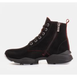 Marco Shoes Sporttiset naisten nupukkikengät, joissa on punaiset insertit musta 2