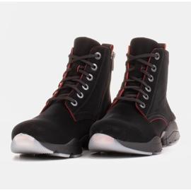 Marco Shoes Sporttiset naisten nupukkikengät, joissa on punaiset insertit musta 3