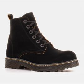 Marco Shoes Korkeat nilkkurit, läpikuultavaan pohjaan sidotut saappaat musta 1