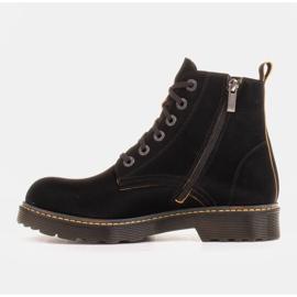 Marco Shoes Korkeat nilkkurit, läpikuultavaan pohjaan sidotut saappaat musta 2