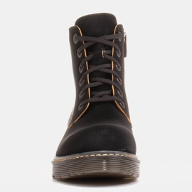 Marco Shoes Korkeat nilkkurit, läpikuultavaan pohjaan sidotut saappaat musta 3