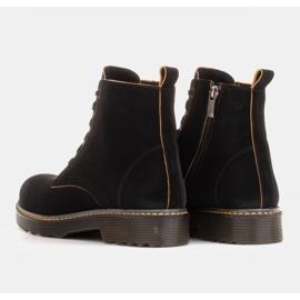 Marco Shoes Korkeat nilkkurit, läpikuultavaan pohjaan sidotut saappaat musta 5