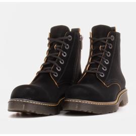 Marco Shoes Korkeat nilkkurit, läpikuultavaan pohjaan sidotut saappaat musta 6