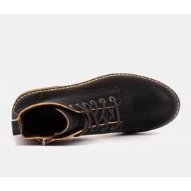 Marco Shoes Korkeat nilkkurit, läpikuultavaan pohjaan sidotut saappaat musta 4