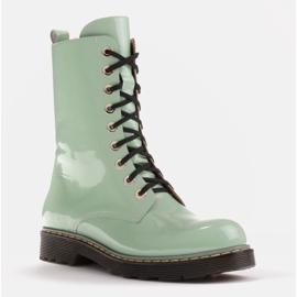 Marco Shoes Korkeat nilkkurit, läpikuultavaan pohjaan sidotut saappaat vihreä 1