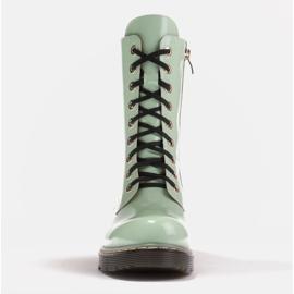 Marco Shoes Korkeat nilkkurit, läpikuultavaan pohjaan sidotut saappaat vihreä 2