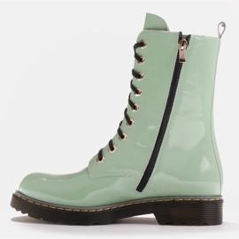 Marco Shoes Korkeat nilkkurit, läpikuultavaan pohjaan sidotut saappaat vihreä 3