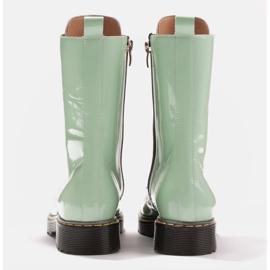 Marco Shoes Korkeat nilkkurit, läpikuultavaan pohjaan sidotut saappaat vihreä 5