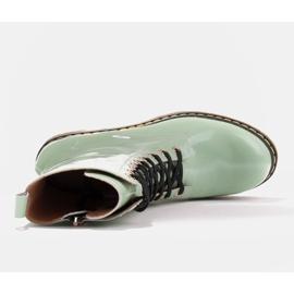 Marco Shoes Korkeat nilkkurit, läpikuultavaan pohjaan sidotut saappaat vihreä 7