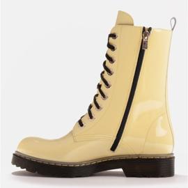 Marco Shoes Korkeat nilkkurit, läpikuultavaan pohjaan sidotut saappaat keltainen 3