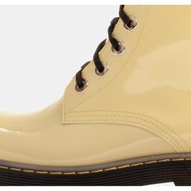 Marco Shoes Korkeat nilkkurit, läpikuultavaan pohjaan sidotut saappaat keltainen 6