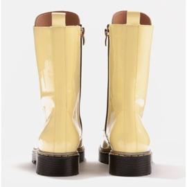 Marco Shoes Korkeat nilkkurit, läpikuultavaan pohjaan sidotut saappaat keltainen 5