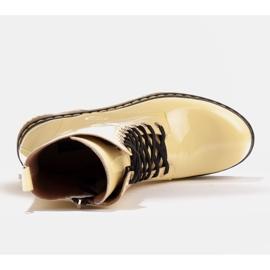 Marco Shoes Korkeat nilkkurit, läpikuultavaan pohjaan sidotut saappaat keltainen 7