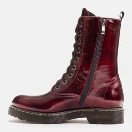 Marco Shoes Korkeat nilkkurit, läpikuultavaan pohjaan sidotut saappaat punainen 3